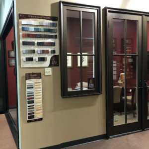 Sierra Pacific Color, Finish, and Hardware Selection Displays at Renaissance Houston Showroom